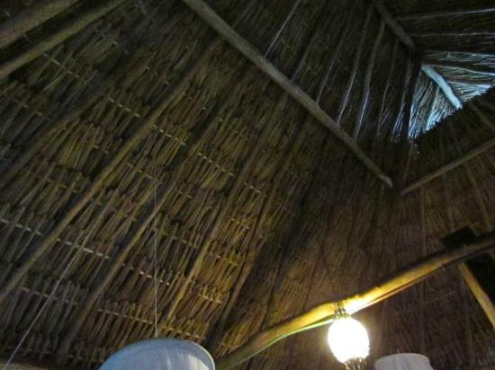 Posada Lamar: Ambar palapa roof, didn't leak during intense tropical storm