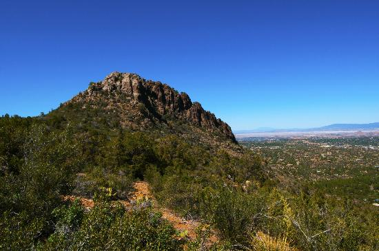 Prescott National Forest: Thumb Butte with view of Prescott
