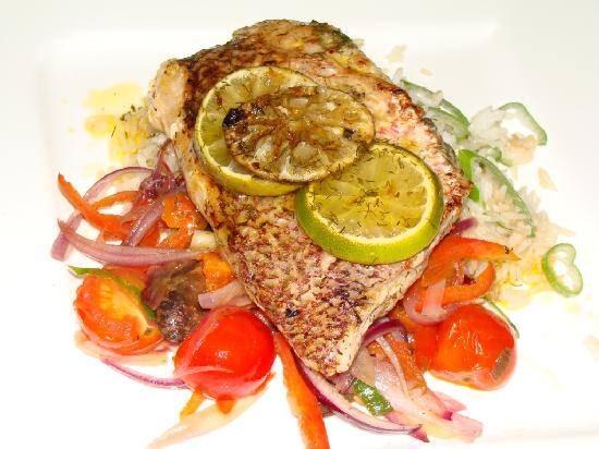Congo Restaurant at Hotel San Bada: Fresh Red snapper