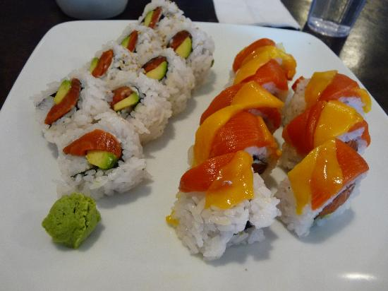 Kozo Cafe: another salmon and avocado roll and a refresh roll