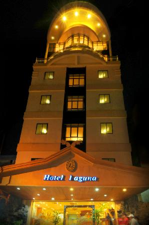 Hotel Laguna: Entrance, The tallest building in the city