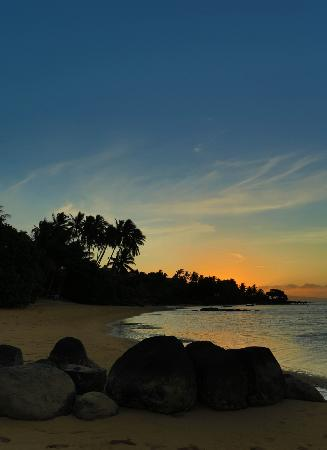 Coconut Grove Beachfront Cottages: sunset from the beach