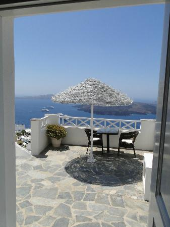 Nomikos Villas: View from the door of our suite