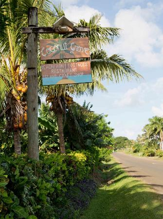 Coconut Grove Beachfront Cottages: road frontage