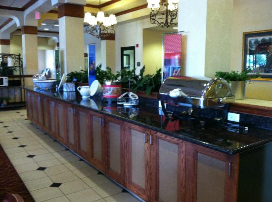 Hampton Inn Salt Lake City-Downtown: Breakfast Sation