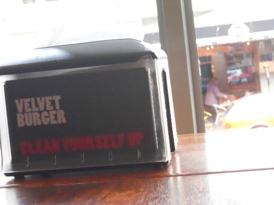 Velvet Burger: Napkin Dispenser