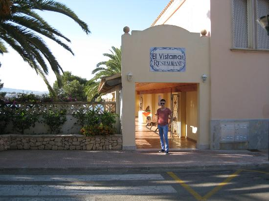 Porto Colom, Spain: Entrance to the Club Elite Pool & Restaurant