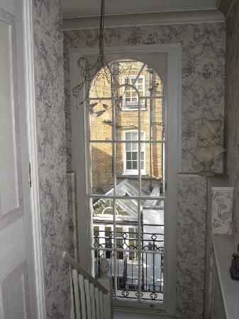 37 Trevor Square: Stairwell to top floor