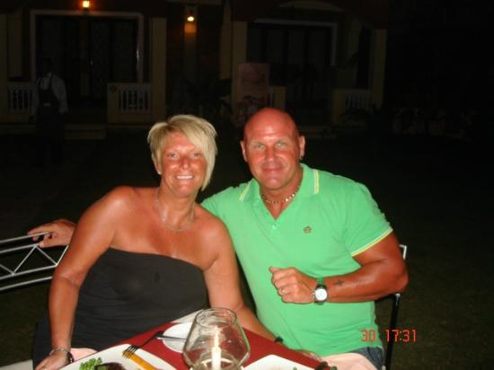 After Seven: Me and hubby in the garden restaurant