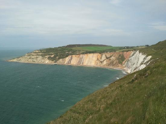 Totland, UK: view from battery towards Needles Park