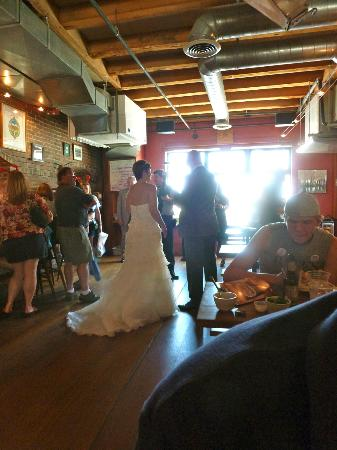 Gritty McDuff's: Some people like Gritty's so much they get married there.....