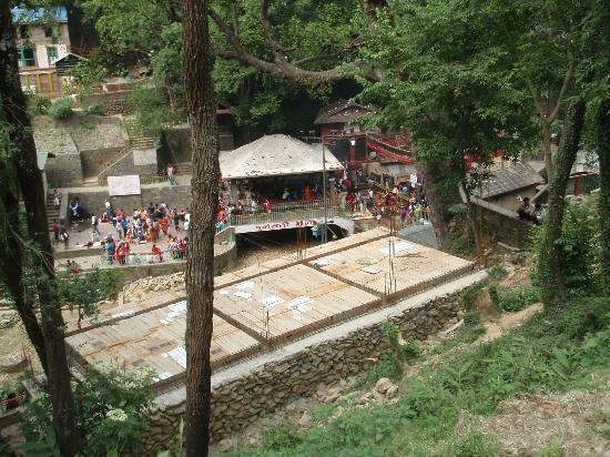 Dakshinkali Temple: View of the temple area from above