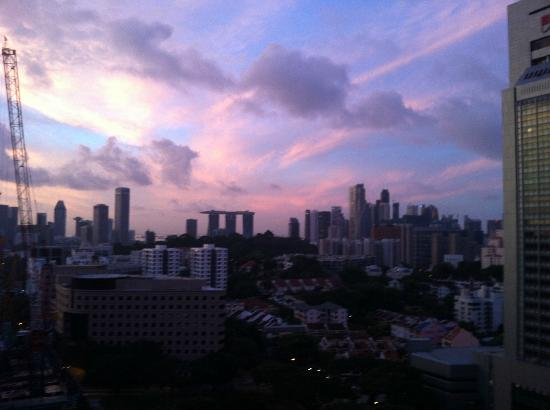 Pan Pacific Serviced Suites Orchard Singapore: View from sky garden at sunrise