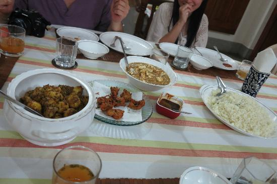 Homestay: Nice vegetarian dinner