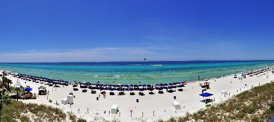 Splash Resort Condominiums Panama City Beach: Panoramic shot from our balcony on Level 1.