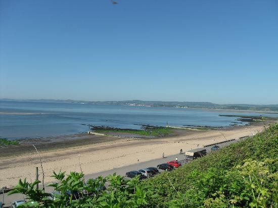 South West Coast Path National Trail: exmouth beach from queens drive path