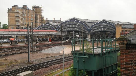 York Railway Station: York Station seen from the National Railway Museum