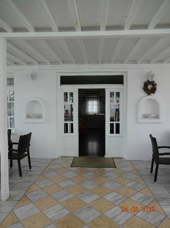 Petinaros Hotel: Frühstücksraum/Bar/Rezeption