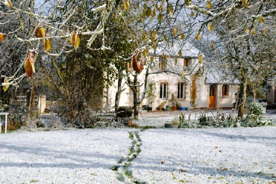 La Maison de Noyer at La Cesnerie: The house in winter