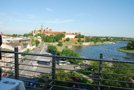 Kossak Hotel: Vista dalla Terrazza sul Wawel