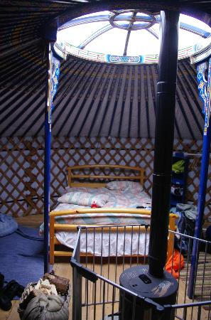 Cape Clear Campsite: inside the yurt