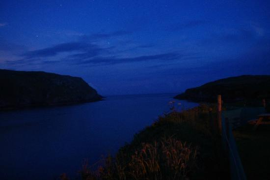 Cape Clear Campsite: view from the yurt at night