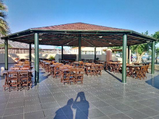 Hotel Sun Beach Lindos: Ресторан