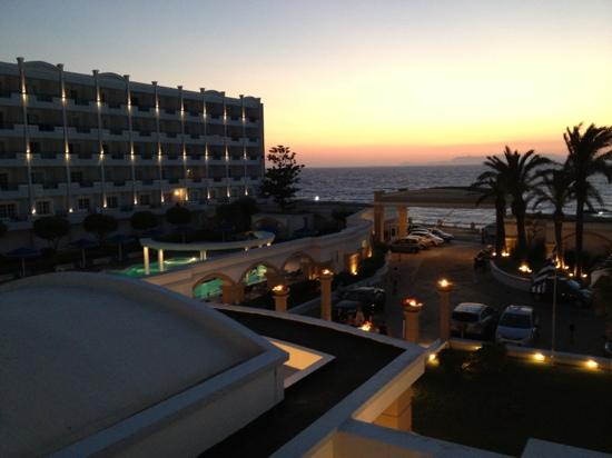 Mitsis Grand Hotel: view from balcony