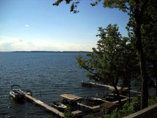 Woodland Resort on Lake Miltona: Lake view from Cabin
