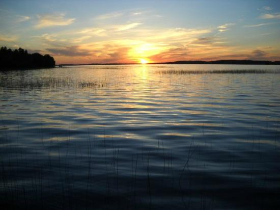 Woodland Resort on Lake Miltona: One of many beautiful sunsets
