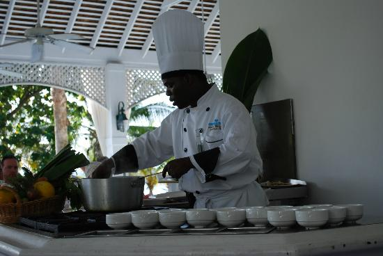 Couples Sans Souci: Chef Andre's cooking demo
