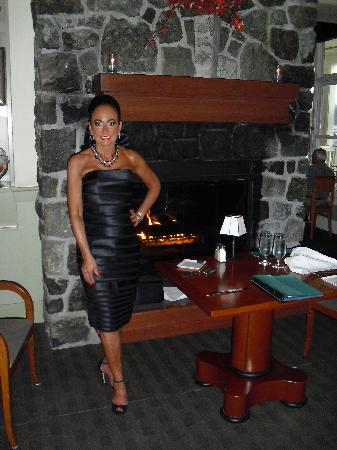 The Fireside Restaurant: Ask for the table by the fireplace!