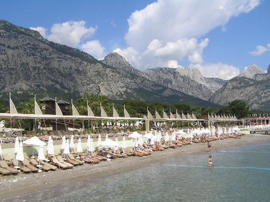 Crystal Flora Beach Resort: beach area