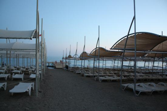 Hedef Resort & Spa Hotel: Beach in the evening
