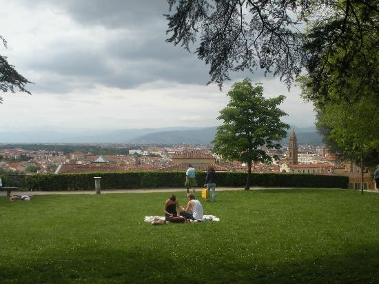 Hotel Europa: View from Boboli Gardens over Florence