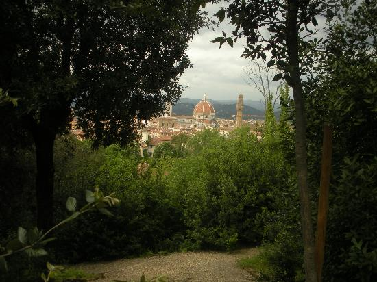 Hotel Europa: View from Boboli Gardens of Duomo