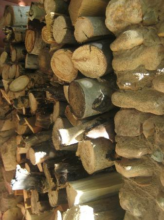 Pack Creek Ranch: Firewood stock at entry