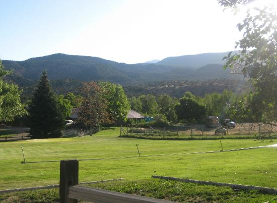 Pack Creek Ranch: View from front of cabin
