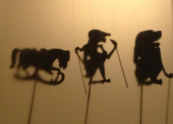 Hove Museum and Art Gallery: Shadow puppets from the film exhibition