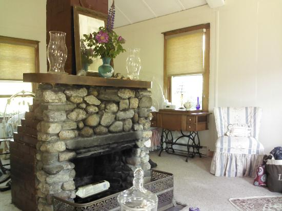 Bradley Inn: Fireplace and room