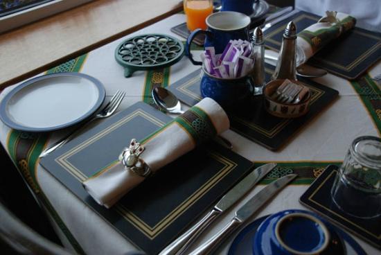 Chelmsford House: Das Gedeck für das Frühstück