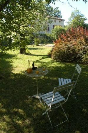 Chambres d'hotes Les Cedres de Lescaille: jardin en été