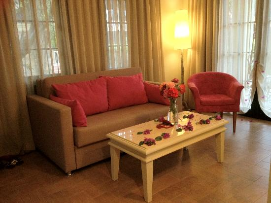 Hotel Zeytinada: a part of the living room (suite)