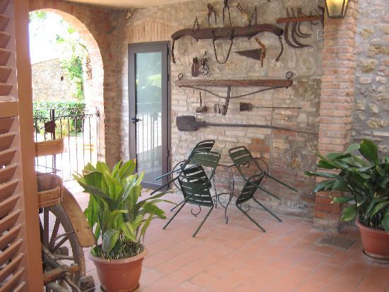 Il Casale del Cotone: Private patio for our double room