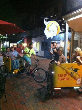 Beluga FroYo: We took a pedicab to Beluga, while in Newport, RI this summer.