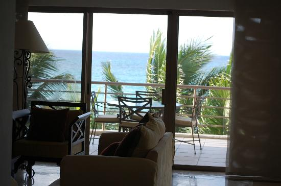 Corto Maltes Ocean Front Luxury Vacation Condos: View from the living area