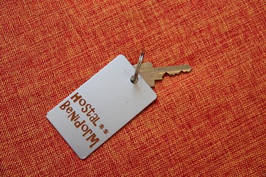 Hostal Benidorm: The keys: one opens the door; another one, turns on the lights