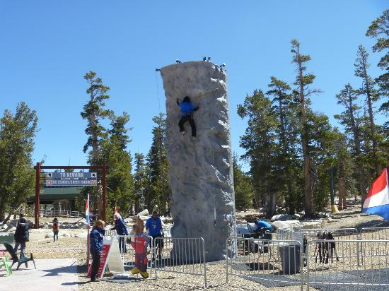 South Lake Tahoe, CA: Climbing Wall at Top of Gondola Ride