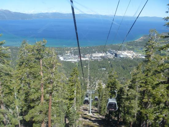 South Lake Tahoe, CA: View of Lake Tahoe from Gondola (some scratches on glass)