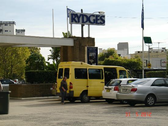 Rydges Camperdown Sydney: Our Yellow Sprinter Van